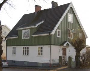 John Ericssonsgatan i Karlstad där vi bodde på övervåningen 1971