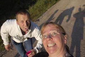 Christian och jag... jo, det är jag faktiskt!