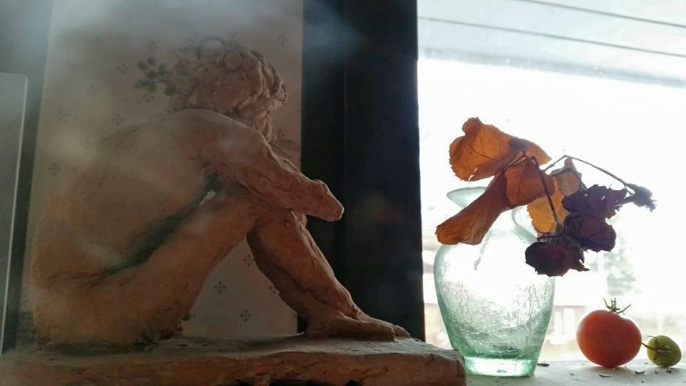 Jim Larsson skapade den här keramikfiguren någon gång på 80-talet.